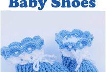 Crochet easy blue booties