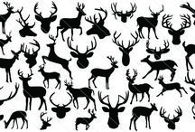 Animal Silhouette Vector / A perfect vector stock for deers from silhouette vectorstock as deer silhouette vector illustrations included both deer silhouette and deer head silhouette might be a very rare collection.