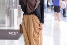 simple style hijab