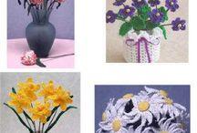 Háčkované květiny