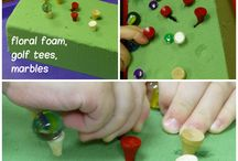Fine Motor Activities / An important task of childhood is for children to gain control over the fine motor muscles of the hand. In doing so, children are able to engage in increasingly complex fine motor activities that are part of everyday living. This board features a wide variety of developmentally appropriate fine motor activities for young kids.  / by Katie @ Gift of Curiosity