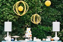 outdoor parties / Parties outside are the COOLEST! Fall and Spring seem to be the best times to celebrate big occasions outdoors, wouldn't you agree? :)