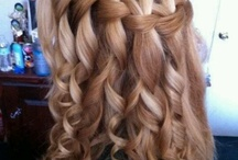 Horizontal half French braids with curls