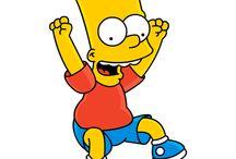 Bart simpson / Es uno de los personajes principales de un programa de televisión llamado los simpsons