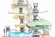 watercolor cities / by Becky Brandt