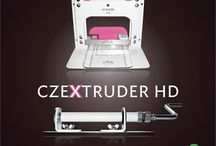 Czextruder HD / Metal LC CZEXTRUDER HD is a tool for polymer clay designed for use with cordless drill or with a cranked handle.