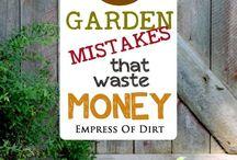 Mistakes garden