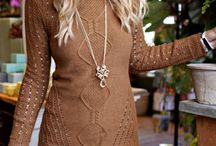 caramel sweater outfit