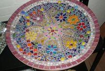 mozaiek / glasstukken aanbrengen op andere voorwerpen