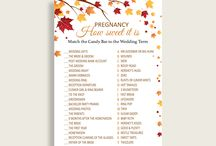 Bridal Shower Products in Fall Autumn Theme, Invitations, Games, Decorations And More / Hi, thank you for visiting this beautiful bridal shower board with products in Fall Autumn theme. Here, you'll find invitations, games and activities, decorations and more with over 60 products in this theme.