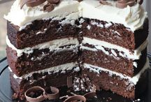 Guinness Chocolate Cake and Irish Cream Frosting.