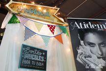 """""""Fiesta y Boda 2015"""" / Decoramos el stand de Atidemi Novias en Fiesta y Boda 2015"""