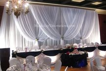 Stage wall draping