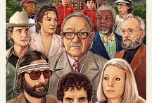 Art from artful movies (like Wes Anderson and Terry Gilliam)