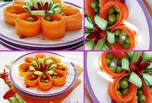 Gemüse und Obst Dekoration