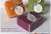 cajas y mas / Empaques de tela, carton o papel.. para guardar diferentes productos...