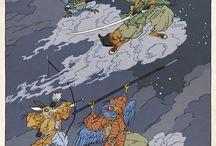 Ukiyo-e Game Art Prints by Jed Henry