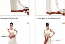 How to wrap a sari