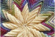 pillows / pillow covers knitted and crochet