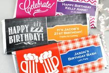 Adult Birthday Party Favors / Shop for adult birthday party favors at ElegantGiftGallery.com for personalized birthday party favors such as shot glasses, stemless wine glasses and shooter glasses. #birthdayparty