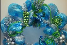 silver & turquise wreath