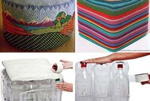 Reciclaje puff de botellas