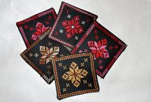 Decorative Items / Embroidered Coasters, book marks, pockets, rugs... everything a interior decorator could ask for!