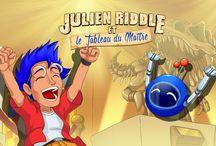 Julien Riddle / Aidez Julien Riddle à résoudre l'Enigme du mois grâce aux indices que vous collectez chaque jour!