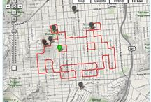 GPS art / A collection of GPS art images. These are made (mostly) by people riding their bikes and tracking their route with a GPS device, like a Garmin.