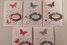 Karten mit Schmetterlingen