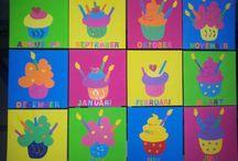 Öğrenci doğum günü panosu / Pasta
