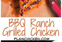 Ranch grilled chicken