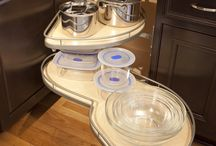 Blind Corner Solutions / Organization solutions for blind corner cabinets. Functional storage ideas to help you age in place.