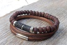 """Bracelet homme """" Une mode """" / Une nouvelle mode bracelet pour les hommes """" Cuir, métal et autres """""""