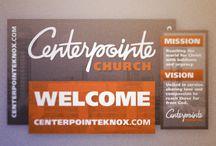Church info wall