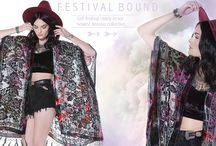 Festival Bound Lookbook / Hit the open road in our latest Spring arrivals! These new arrivals will have you festival ready!   http://www.saltwatergypsy.com
