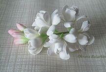 """Фоам цветы образцы / Отдельные цветы или декор выполненный из фоама.  Образцы для идей. Часть от доски """"Надо попробовать"""""""