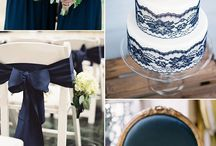 Navy Blue Wedding decor
