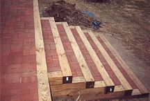 Steps up retaining wall