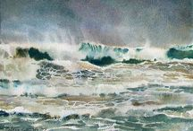 Watercolour Water & Seascapes / Watercolour paintings of seascapes and water (watercolor)