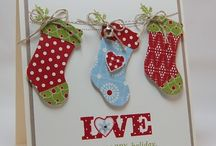 Christmas stockings & winter mittens