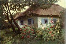 wiejskie pejzaże w malarstwie