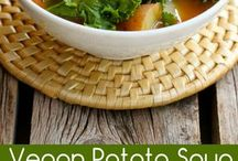 Vegan potato soup