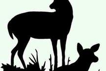 Hirsche und Bambis