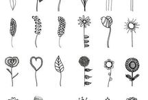 Virágrajzok