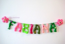 Banners, Felt Name Banner, Room Decor, Party Banner, Party Decor, Party Supplies / Personalized banners for kids room, felt banner birthday parties Felt Name Banner, Room Decor, Party Banner, Party Decor, Party Supplies