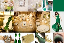 """Emeral Green / Think Regal with Emeral Green in 2013. A """"Blissful Celebrations"""" Inspiration board. Dallas, Texas 469-442-0155"""