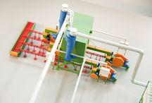 Makieta techniczna / Makiety techniczne prezentujące procesy technologiczne i produkcyjne.