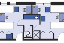 Floor Plans / Western offers 16 unique residence halls in a variety of size, architectural styles and vintages. Each hall consist mainly of double rooms, but some halls also offer a few singles and triples. The layouts pictured here represent typical double rooms.