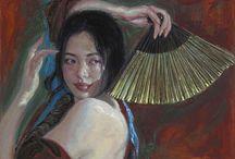 GEORGE TSUI / George Tsui, pintor estadounidense de origen chino nació en Hong Kong y se trasladó a Nueva York a finales de los años 60, estudiando primero en la Escuela de Artes Visuales y más tarde con especialización en pintura al óleo en la Art Students League,.